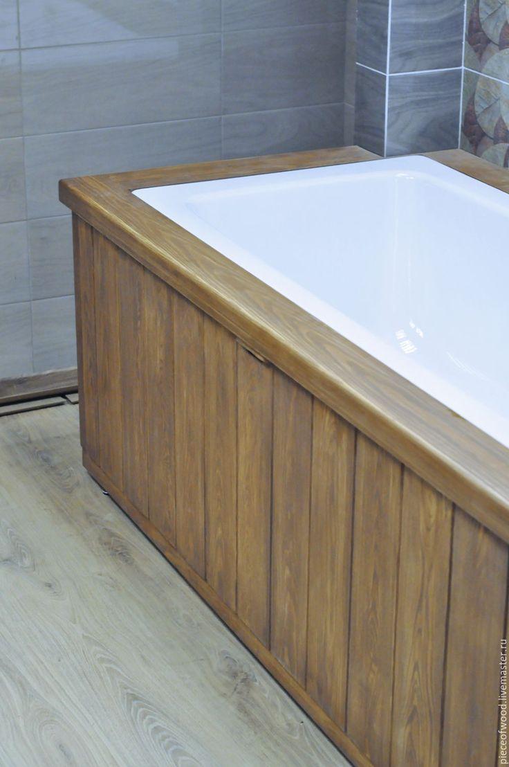 Купить Обрамление для ванны с откидной дверцей - коричневый, ванная комната, ванная, ванна, штора для ванной