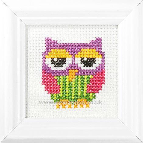 Cute Owl Cross Stitch Kit