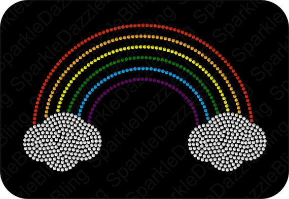 Rainbow Rhinestone Template Instant Download  This rhinestone TEMPLATE will be delivered as an INSTANT DOWNLOAD FILE. An actual item will not