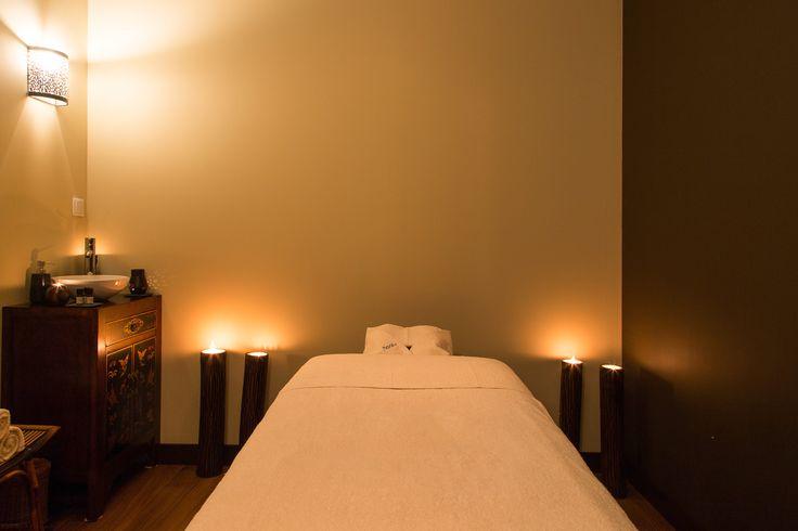A sala Neroli foi pensada para lhe proporcionar os momentos de relaxamento mais profundos, com o ambiente perfeito para que alcance rapidamente um estado zen.