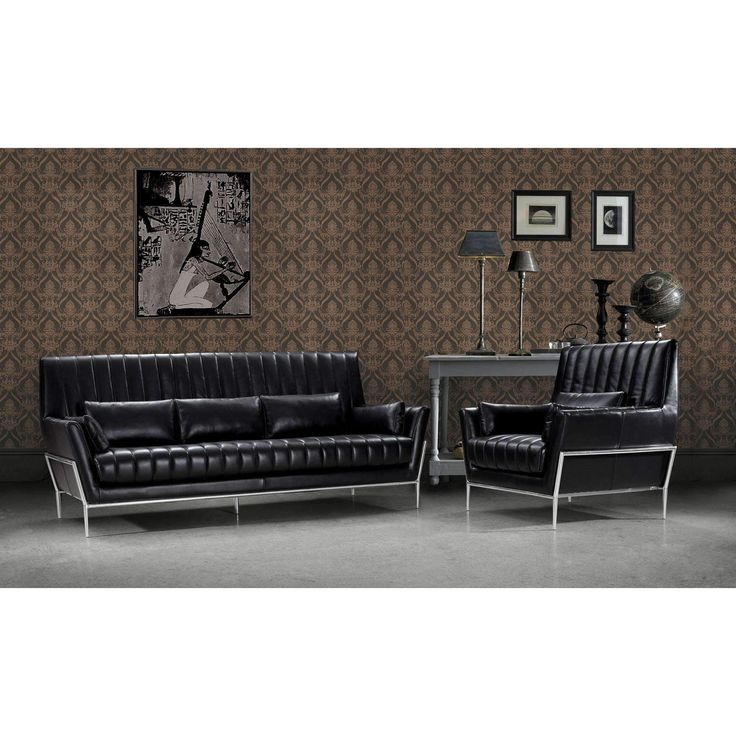 Die besten 25+ Black leather sofa set Ideen auf Pinterest - divanidivani luxurioses sofa design
