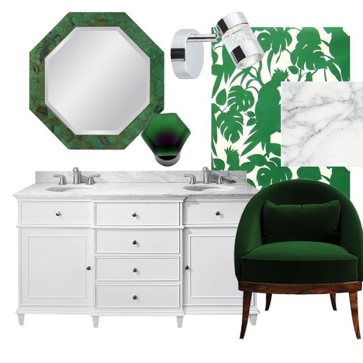 Greens, greys and whites are the perfect combination for a bathroom for a clean, stylish look. I adore the frosted glass knobs for the vanity. Styled by Natural White Interiors.