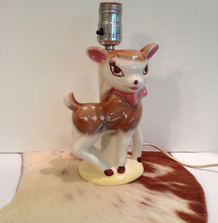Deer Lamp Spotted Fawn Nursery Baby Lamp Bambi Like