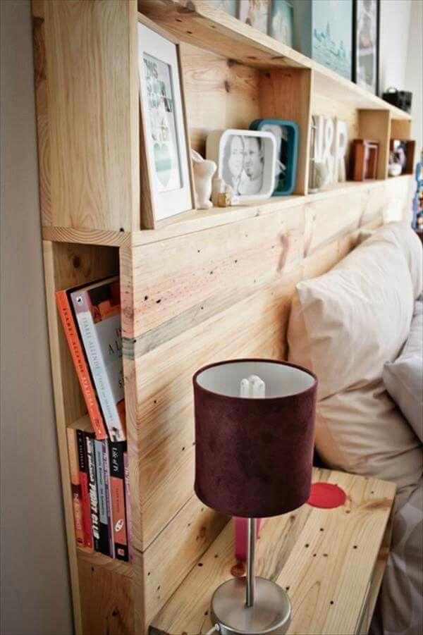 DIY headboard with storage