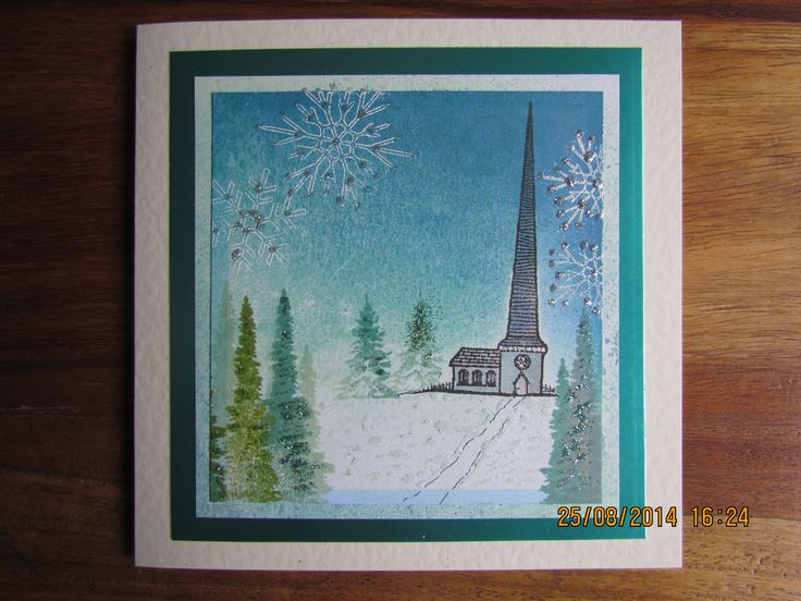 Christmas scene made with Clarity Stamps
