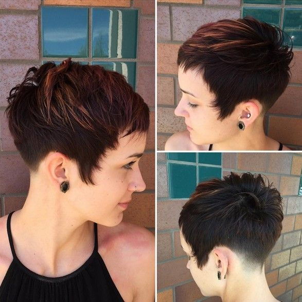 Textured Pixie Haircut - Balayage Short Hairstyles
