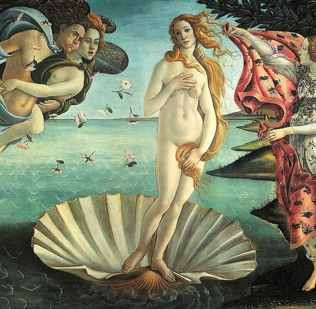 Botticelli's famous 1486 Renaissance painting, The Birth of Venus...to see the real painting...