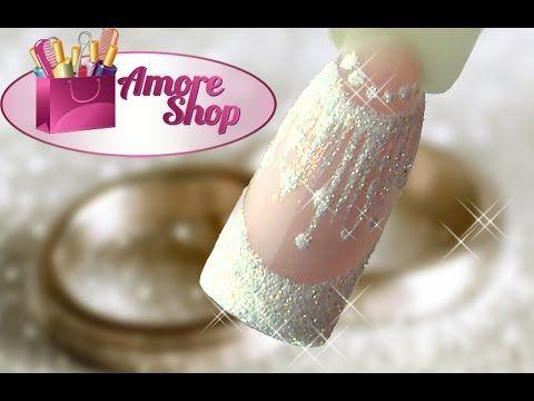 Свадебный дизайн ногтей, свадебный маникюр - МК от Аморешоп - YouTube