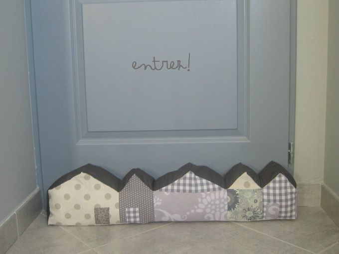draft excluder houses grey