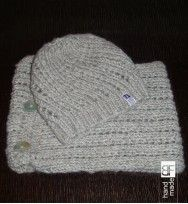 knitting set hat & cowl