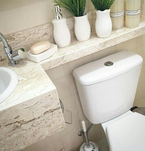 save on counter top and have toilet with water saving mode.