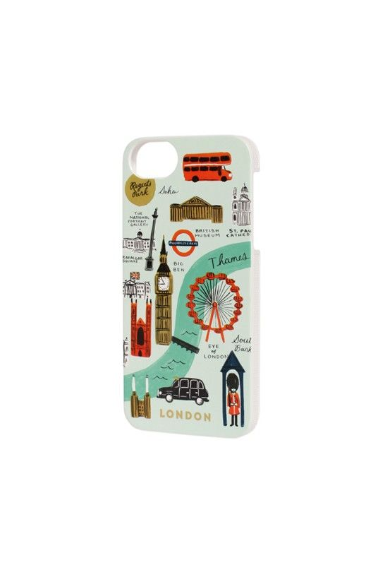 Dress your tech.... Rifle Paper Co Rifle Paper Co - iPhone 5 Slim Hard Case - London - NoteMaker Stationery