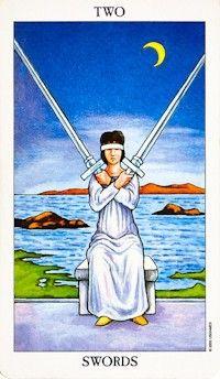 two of swords tarot card meanings 2 of swords tarot card