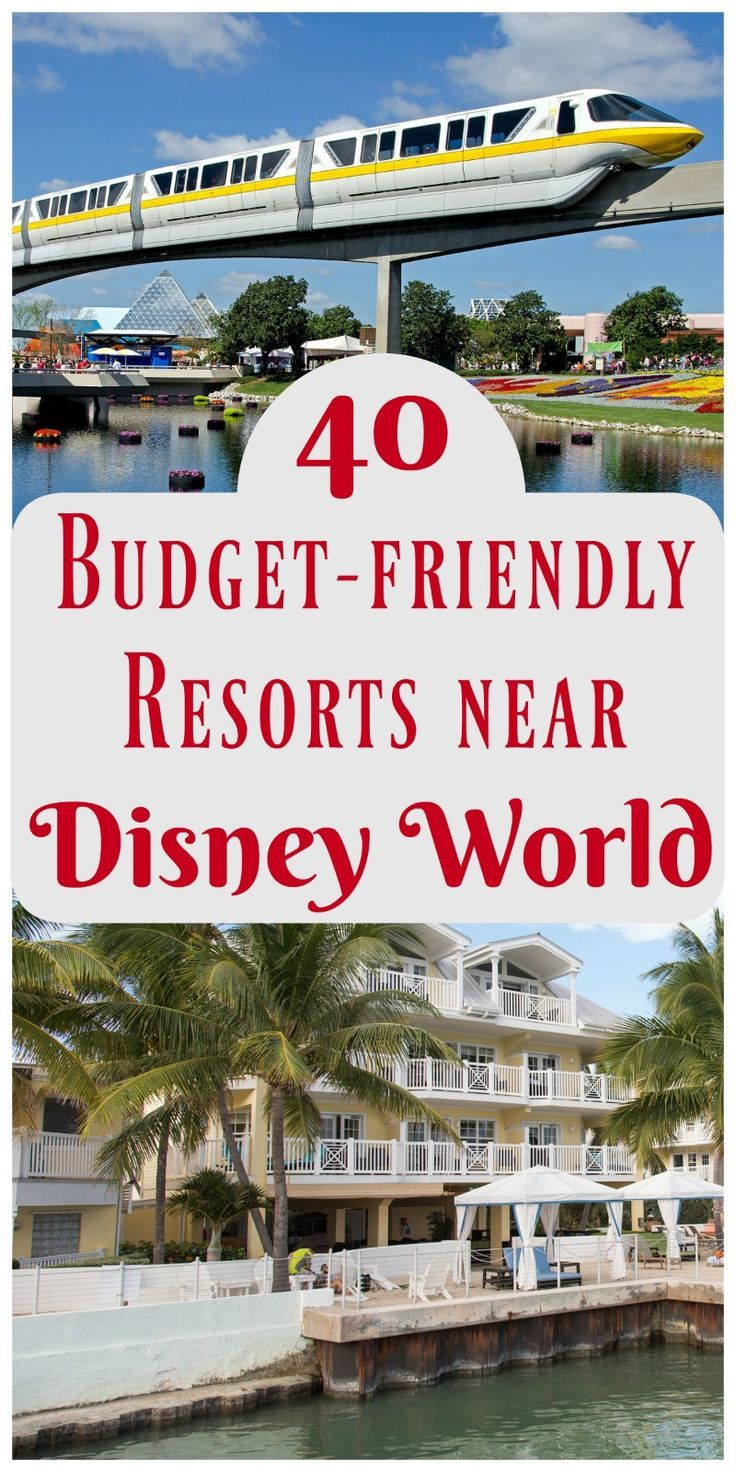 Great list of affordable resorts near Walt Disney World - with pools and family-friendly services!