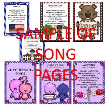 FEBRUARY SONGS *READERS... by SING-PLAY-CREATIVELY | Teachers Pay Teachers