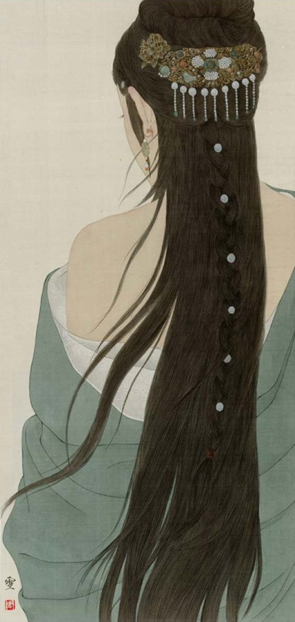 Nice Long Hair Traditional Paintings Pinterest