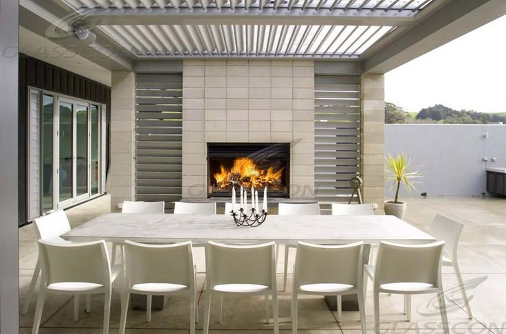 Glasscon - Retractable LOUVERED ROOF SYSTEM for atriums, patios, pergolas (opening & waterproof).