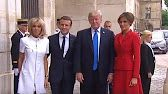(2) President Trump's FULL Paris Welcome Ceremony @ Les Invalides 7/13/17 - YouTube
