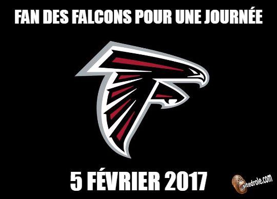 Fan des Falcons pour une journée ...image drole