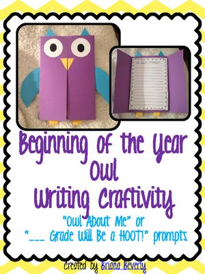 Back to School Owl Writing Craftivity from Briana Beverly on TeachersNotebook.com (21 pages)