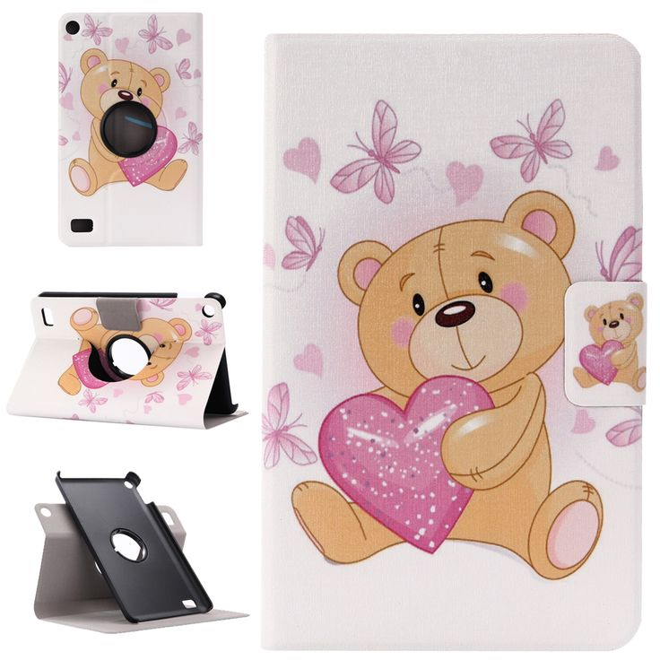 360-Swirl-PU-Leather-Patterned-Case-Cover-Stand-For-Amazon-Kindle-Fire-7-2015