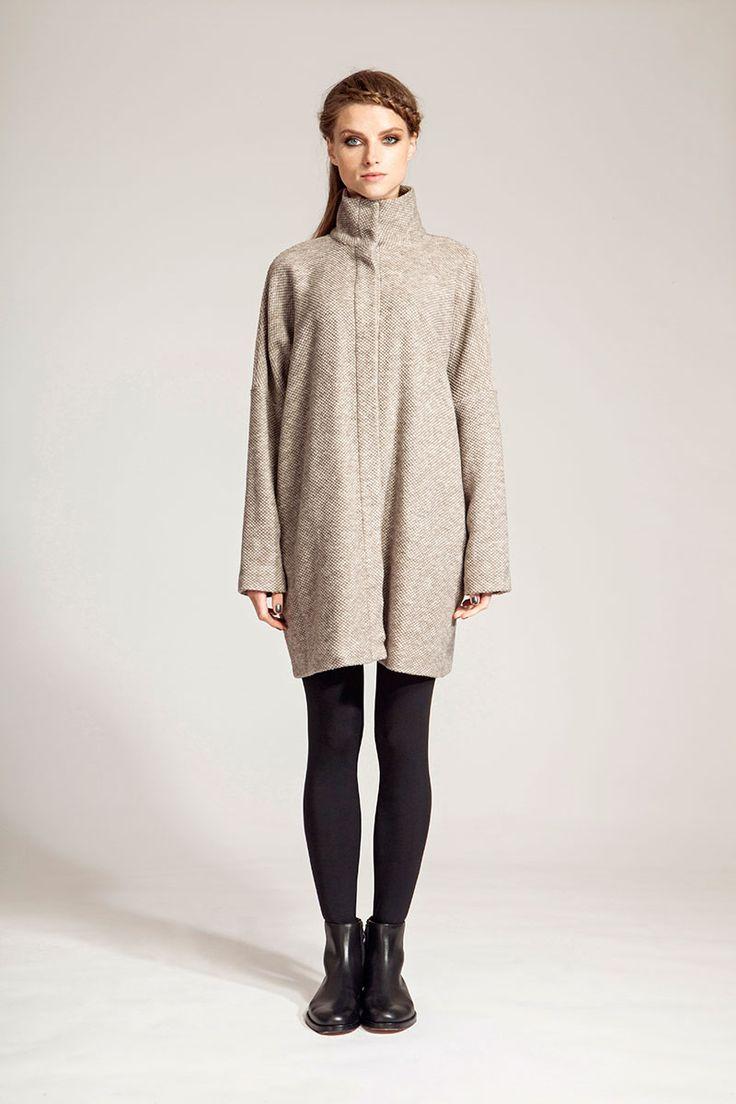 IMRECZEOVA FW16 oversized camel wool jacket