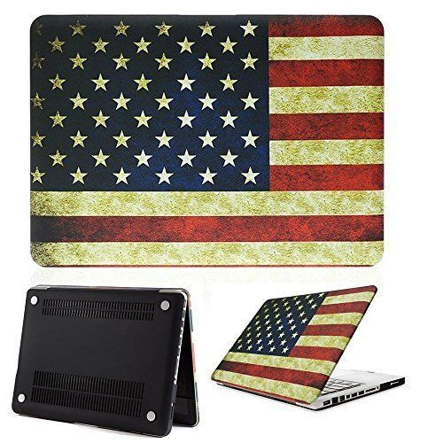 Macbook Pro 13 Case,ACCUCASE(TM) 13-inch macbook pro case,macbook pro 13 case,Ultra Slim Rubberized Hard Case Light Weight Matte Cover for MacBook Pro 13-inch (A1278) US Flag