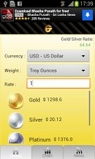 Simple App for Gold and Silver Prices per ounce or per gram in the currency of your choice