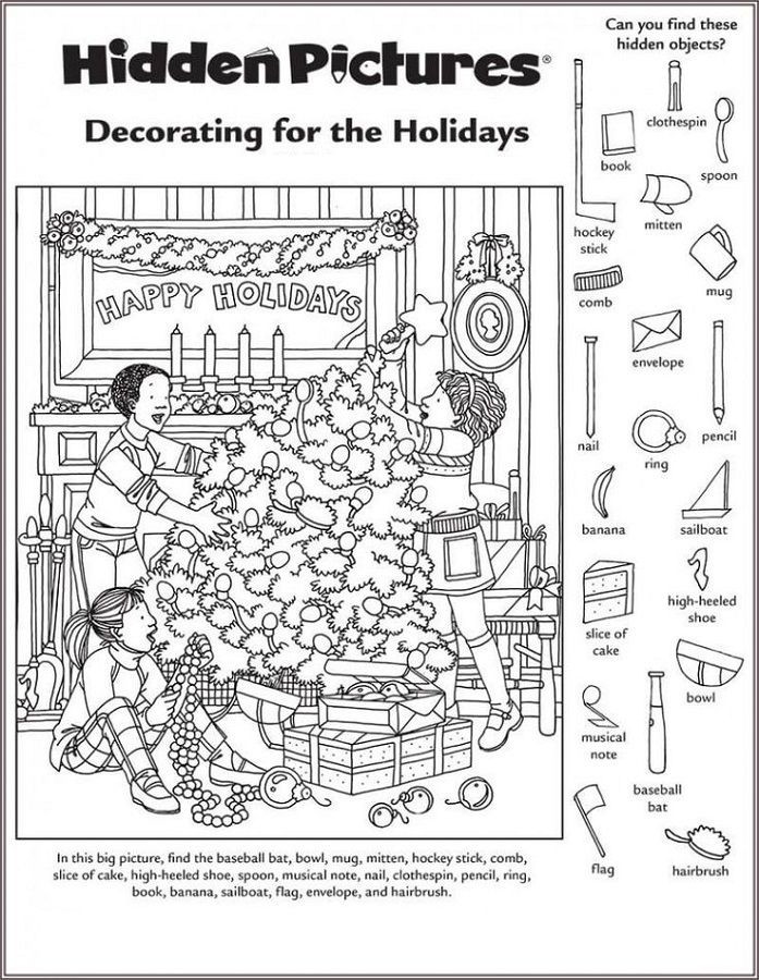 Hidden Picture Worksheet For Middle School Hidden Pictures Hidden Picture Puzzles Christmas Worksheets Free hidden picture worksheets