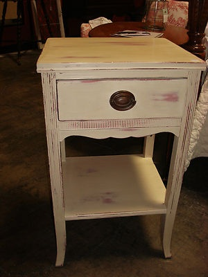 Shabby Chic Country French Style Nightstand in Annie Sloan Chalk Paint | eBay