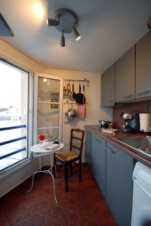 Small Parisian Kitchen via Perfectly Paris