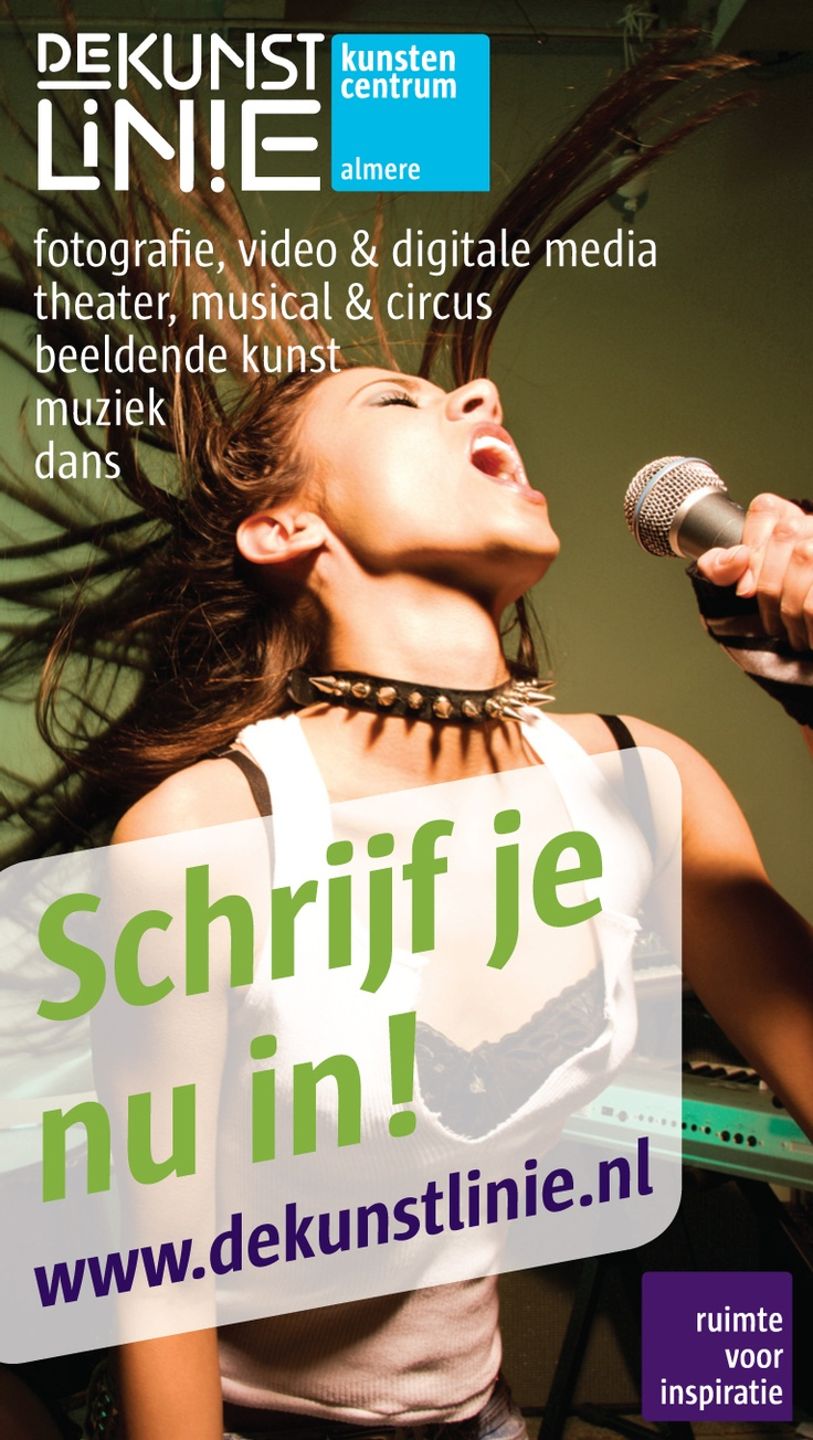Kunstencentrum De Kunst Linie. Schrijf je nu in! http://www.dekunstlinie.nl