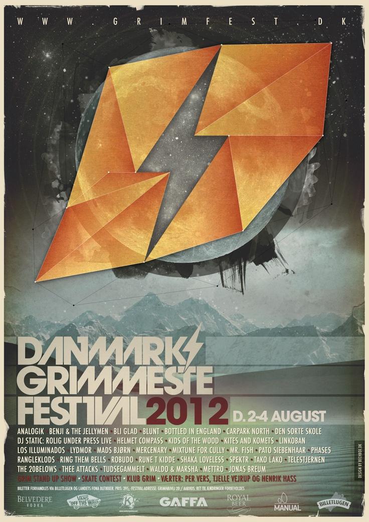 Poster for Danmarks Grimmeste Festival 2012