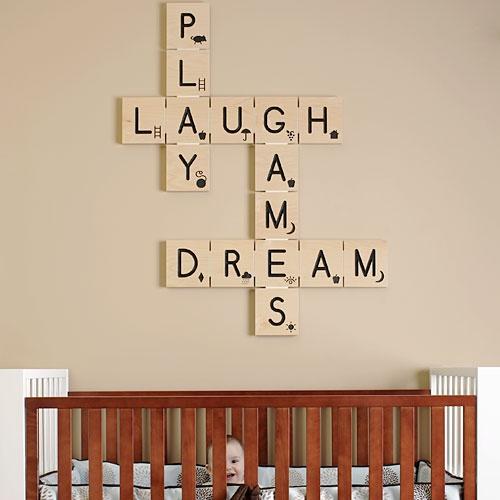 Scrabble word wall #DIY