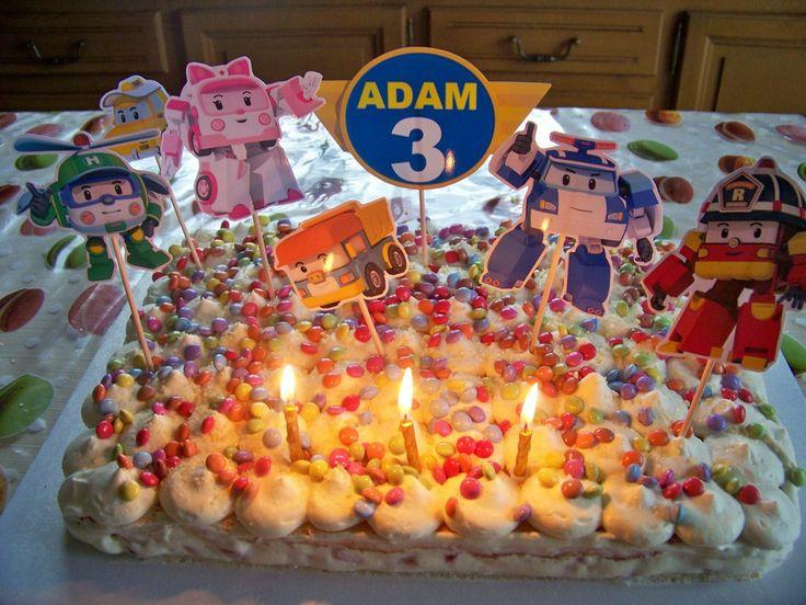 Gâteau anniversaire Robocar Poli