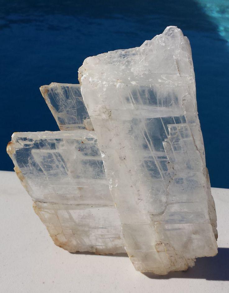 Selenite Crystal Natural (Non-Polished) (CR-MFR055) #selenite #crystals #ebay #wow #myfavoriterock