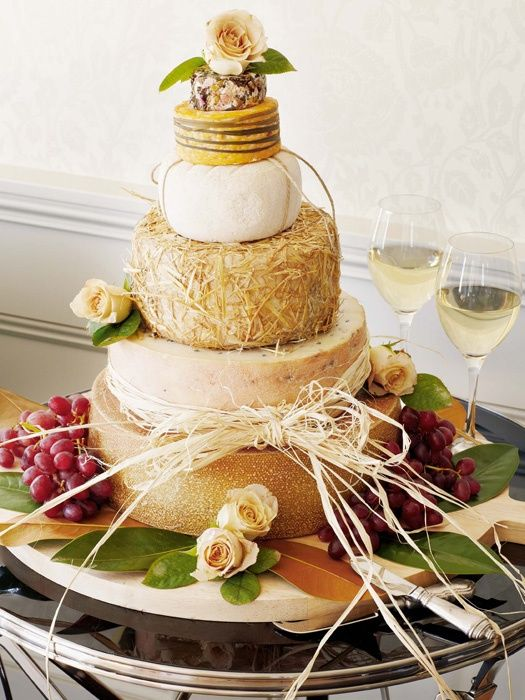 cheese tower as wedding cake. Now, WOW your guests, pair with your favorite wine and enjoy!