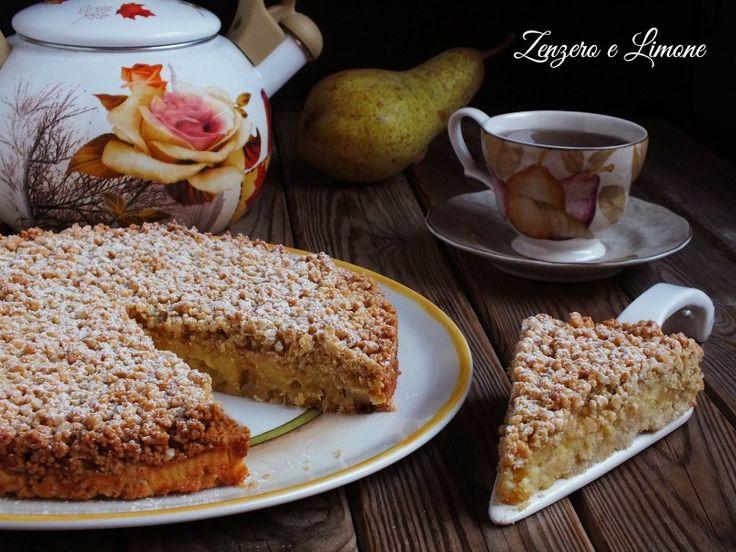 Croccantezza e cremosità caratterizzano questa crostata alla crema e pere, perfetta da servire a fine pasto anche in una occasione speciale.