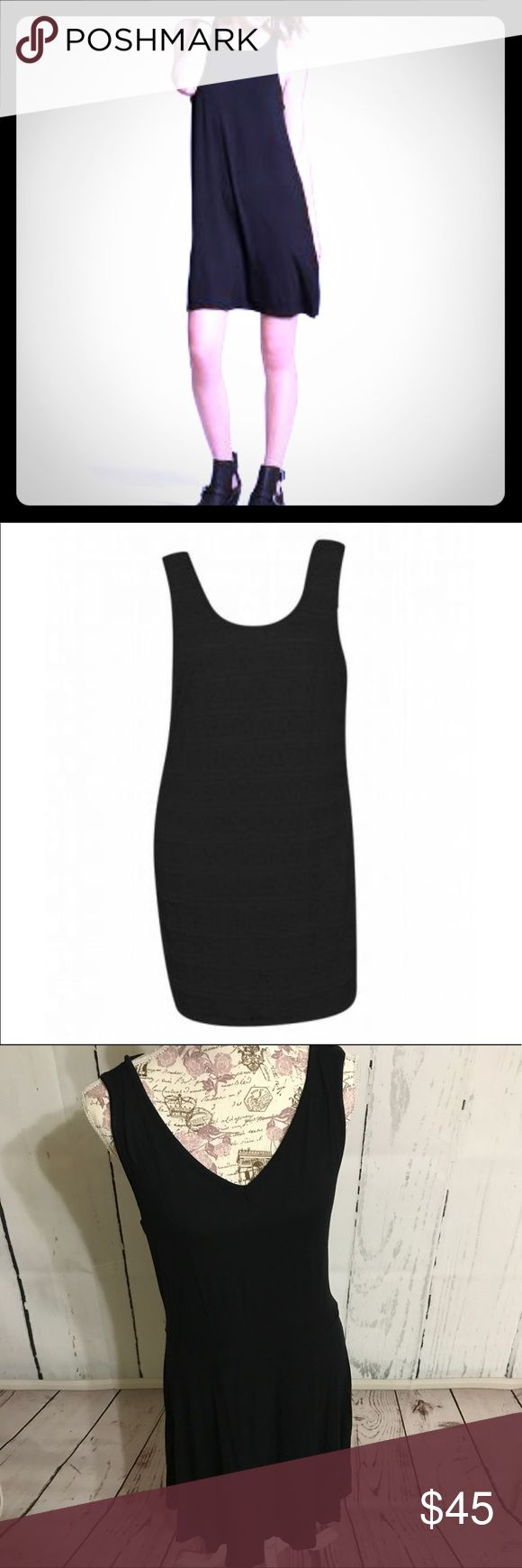 """Black Razorback Sleeveless Sumner Dress Try this as your new, little black dress for summer. This Black Razorback Sleeveless Summer Dress is the perfect combination of comfy and sexy. The back is what sets this one apart. Easy to dress up for a date or dress down for a BBQ or summer party. Can even be used as a swimsuit coverup while cruising or perusing on a beach. 95% Rayon 5% Spandex. Has tons of stretch. From waist = 19"""" long, 1X Bust pit to pit = 20"""", waist = 20"""". True to size. Brand…"""