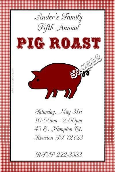 Elegant pig roast wedding
