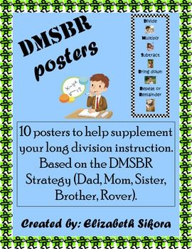 These are visually appealing posters that help supplement the DMSBR strategy for long division. These are actually apart of my bigger product called Divide and Conquer! So, if you are looking for more division instruction resources, check that out first!