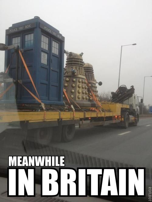 they're taking the daleks to isengard!