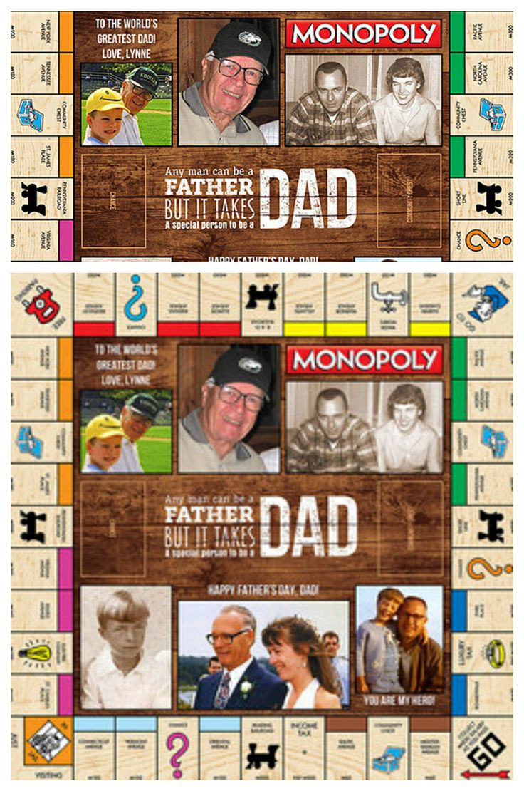 Custom monopoly for dad how awesome is this fathersday