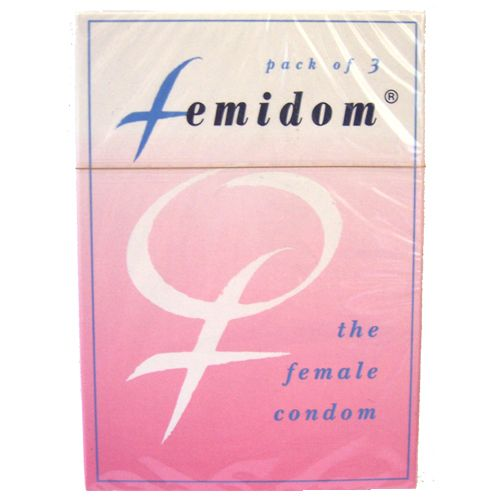 FEMIDOM FEMALE CONDOMS Femidom is the first and only female-initiated barrier method and is the only TGA,FDA and CE approved female condom.   Femidom provides dual protection against both unplanned pregnancy and the transmission of sexually transmitted infections (STIs), including HIV/AIDS.   Femidom also protects the vagina, cervix and external genitalia, affording extensive barrier protection.  Femidom Female condoms comes in a 3 per pack.