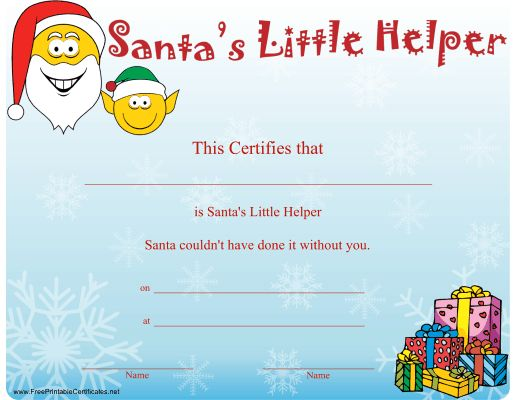 63 Best images about certificates – Santa Gift Certificate Template