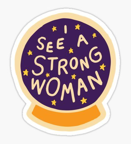 I see a strong woman Sticker