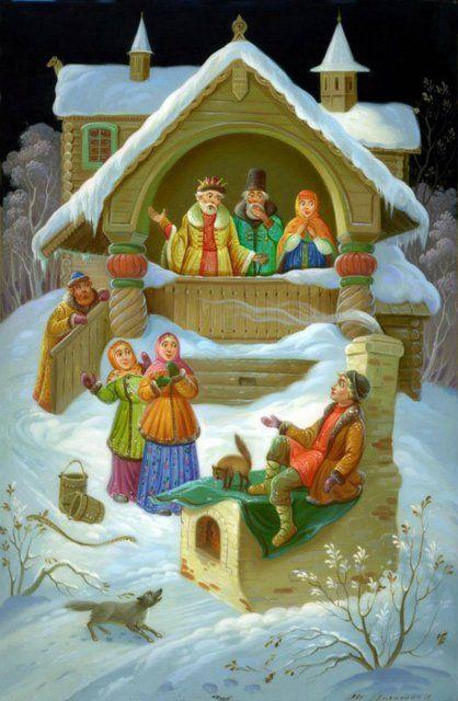 Русские сказки в лаковой миниатюре. По щучьему велению...