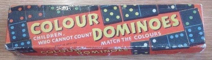 Coloured Dominoes Still In Box By Spear's Games Vintage