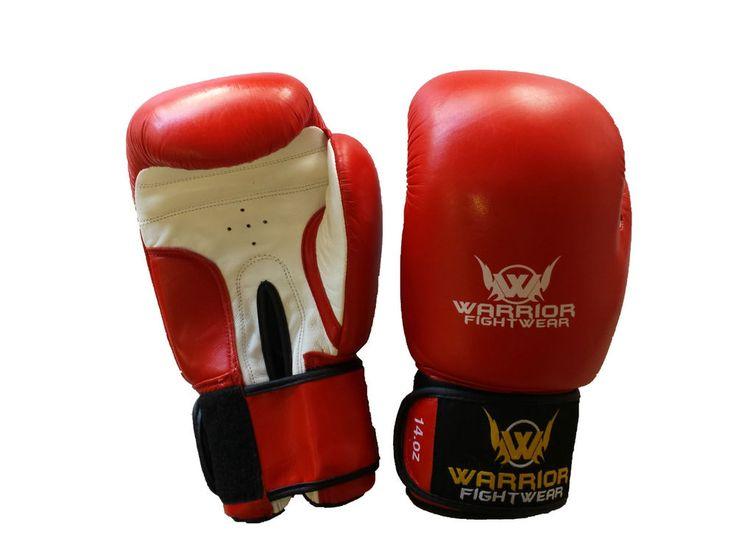 Warrior Fight Wear Leather Boxing Gloves 16oz 14oz 10oz 8oz Premium Leather #boxinggloves #fightgloves #sparring #hook #muaythai #fitness