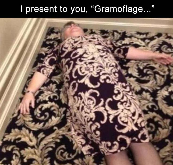 I just love that grandma is literally on the floor for this photo.